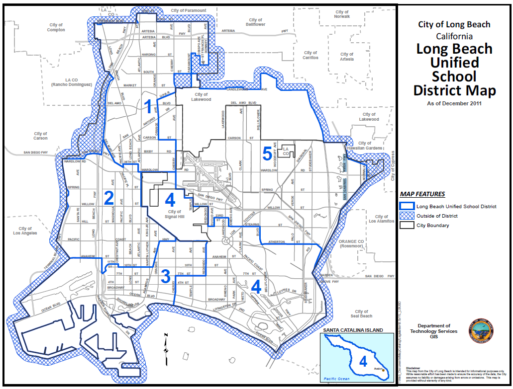 Map of Current LBUSD Board Areas