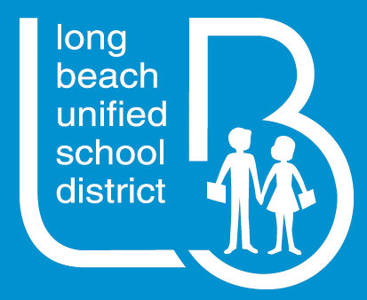 LBUSD Logo - White with Blue Background