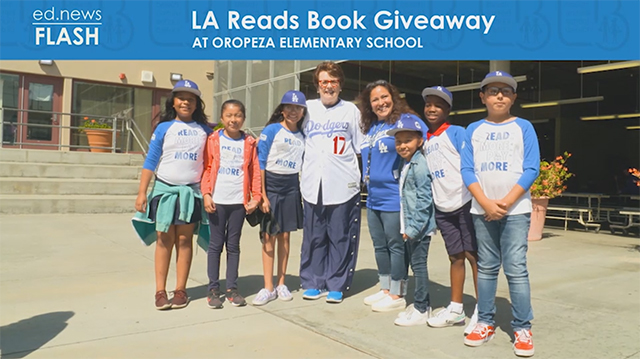 ed.news Flash - LA Reads: Billie Jean King Visits Oropeza - Video