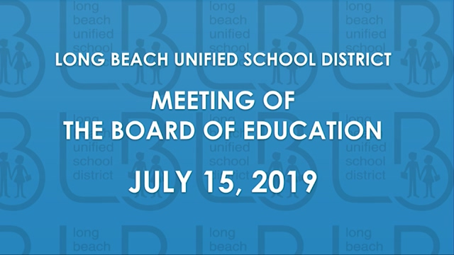 BOE Meeting - July 15, 2019 - Video