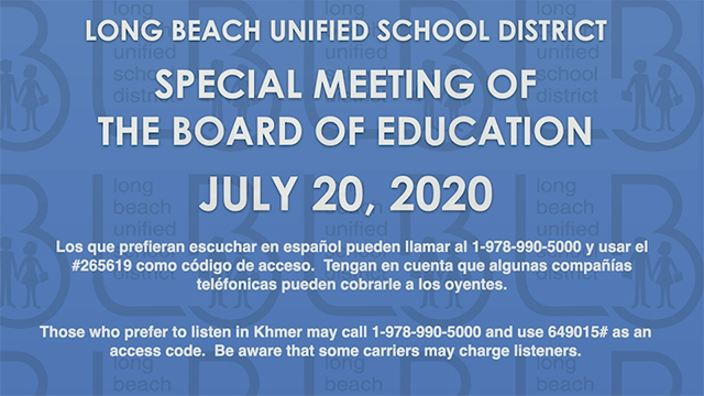 BOE Workshop - July 20, 2020 - Video