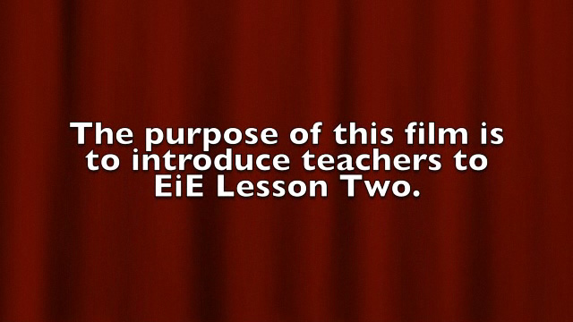 BTSA EIE - Training Lesson 2 - Video