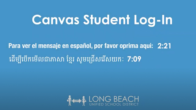 Canvas Student Log-In - Video