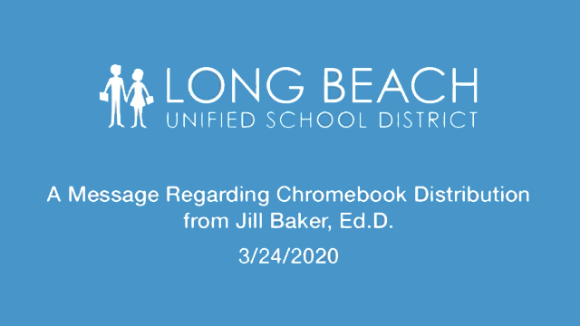 March 24th, 2020 - A Message Regarding Chromebook Distribution - Video