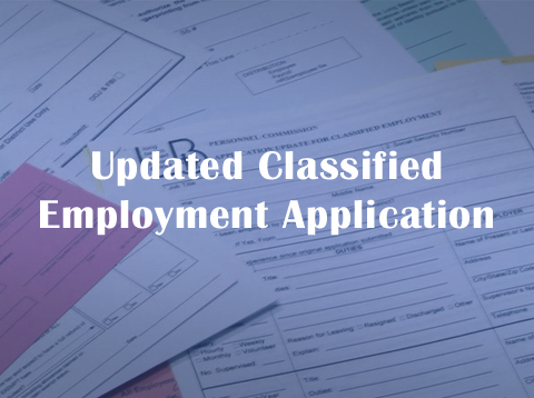 Updated Classified Employment Application - Video