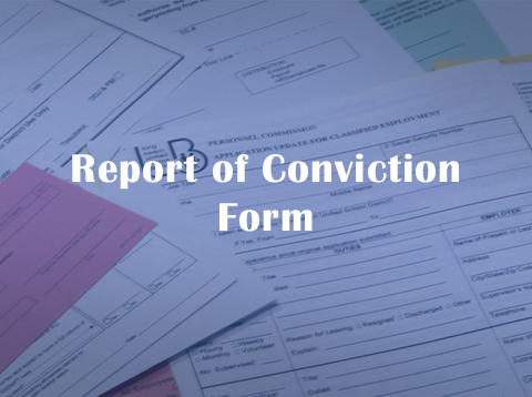Report of Conviction Form - Video