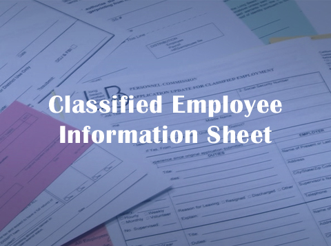 Classified Employee Information Sheet - Video
