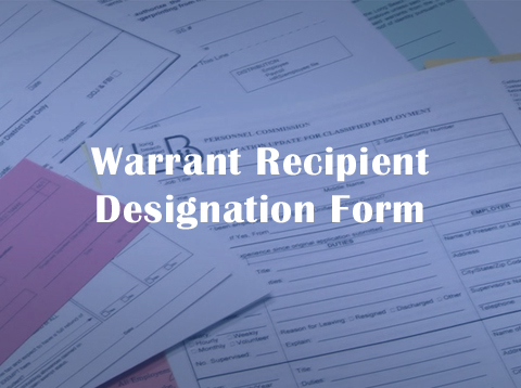 Warrant Recipient Designation Form - Video