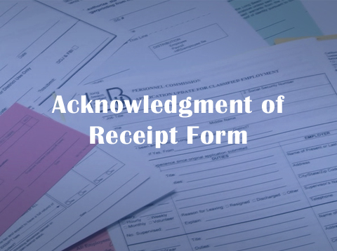Acknowledgment of Receipt Form - Video