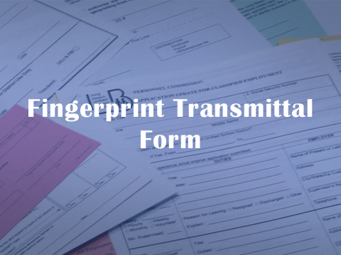 Fingerprint Transmittal Form - Video