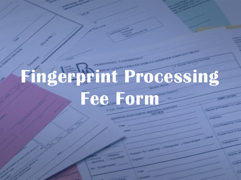 Fingerprint Processing Fee Form - Video