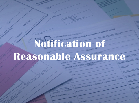 Notification of Reasonable Assurance - Video