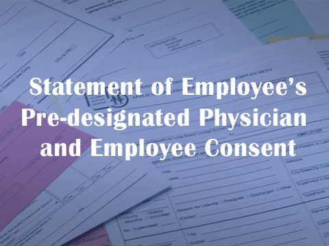 Pre-designated Physician and Employee Consent Form - Video