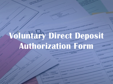 Voluntary Direct Deposit Authorization Form - Video