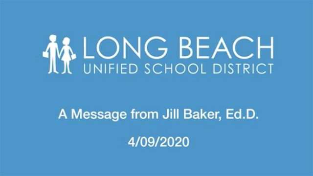 April 9th, 2020 - A Message from Jill Baker - Video