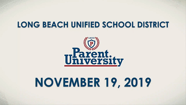 Parent University - November 19, 2019 - Video
