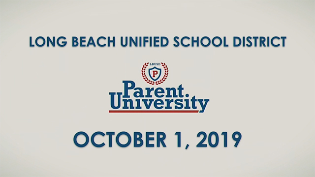 Parent University - October 1, 2019 - Video