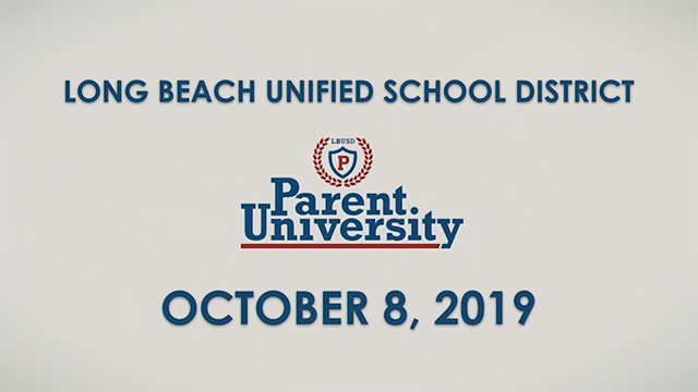 Parent University - October 8, 2019 - Video