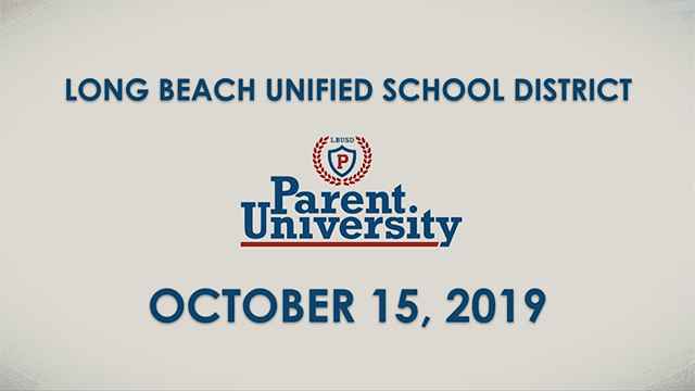 Parent University - October 15, 2019 - Video