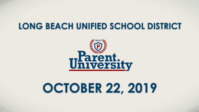 Parent University - October 22, 2019 - Video
