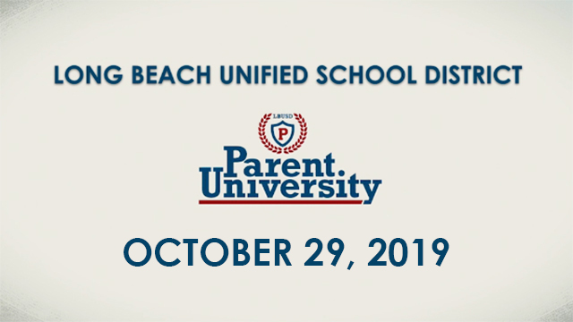 Parent University - October 29, 2019 - Video