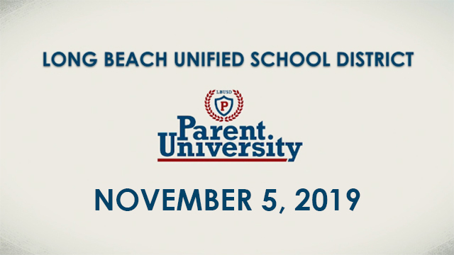 Parent University - November 5, 2019 - Video