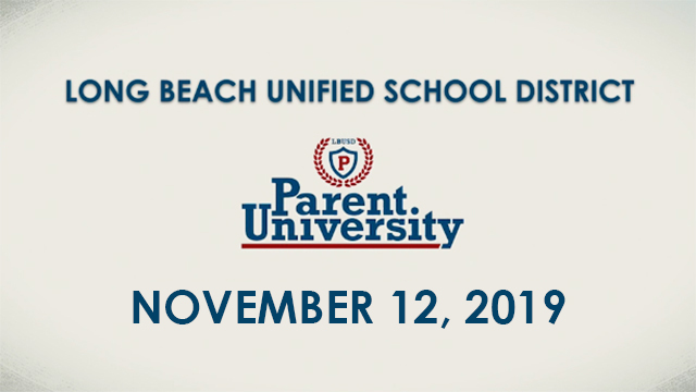 Parent University - November 12, 2019 - Video