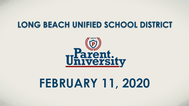 Parent University - February 11, 2020 - Video