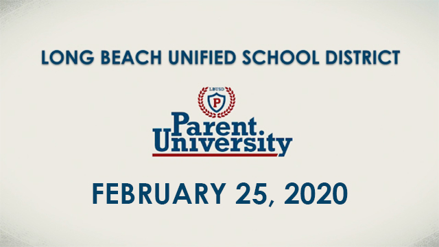 Parent University - February 25, 2020 - Video