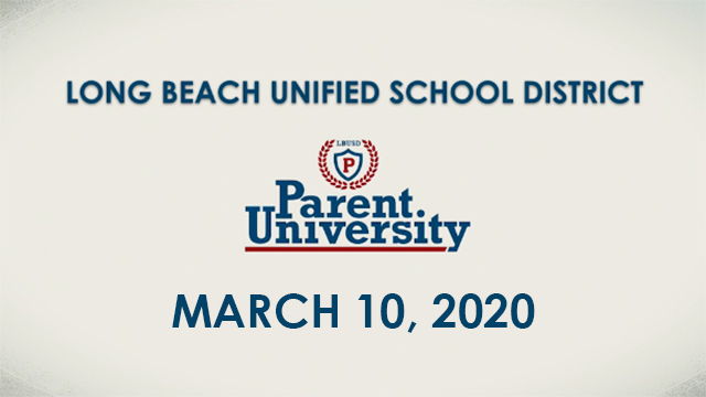 Parent University - March 10, 2020 - Video
