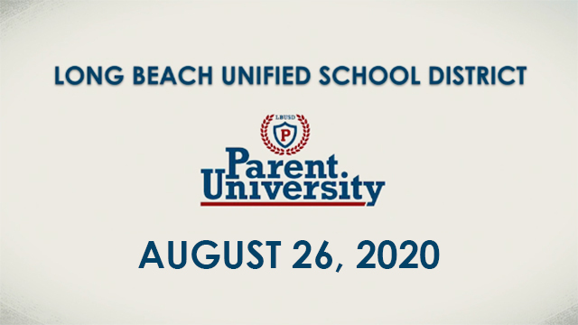 Parent University - August 26, 2020 - Video