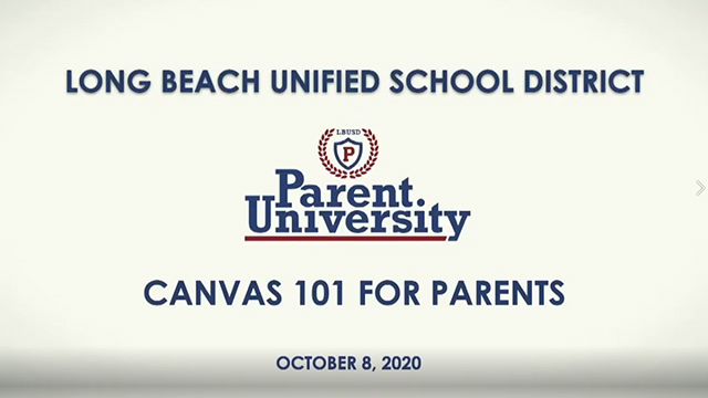 Parent University - October 8, 2020 - Video