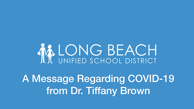 A Message Regarding Covid-19 from Tiffany Brown, Ed.D. - Video