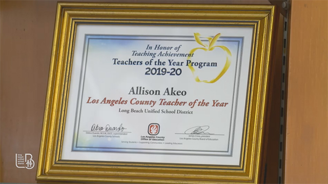 Allison Akeo Teacher of the Year Profile - Video