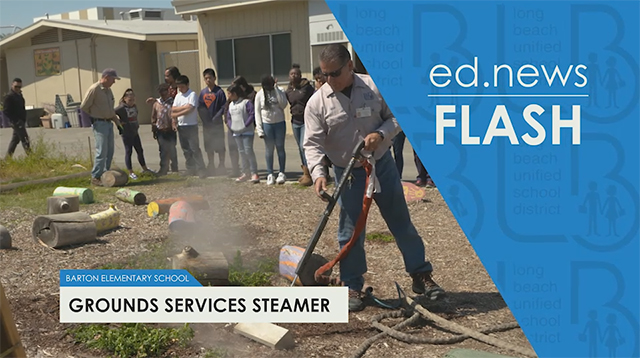 ed.news Flash - Grounds Services Steamer  - Video