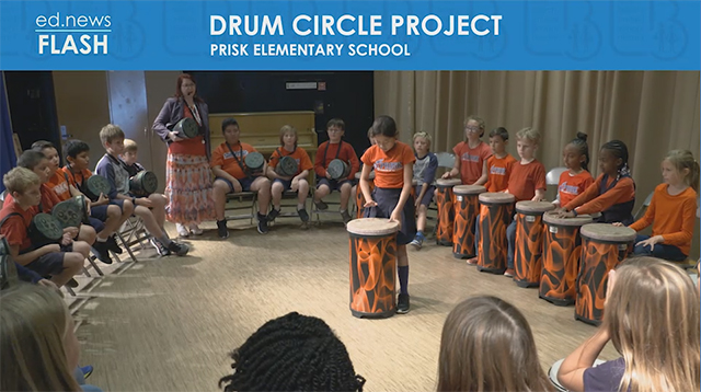 ed.news Flash - Prisk Drum Circle Project - Video