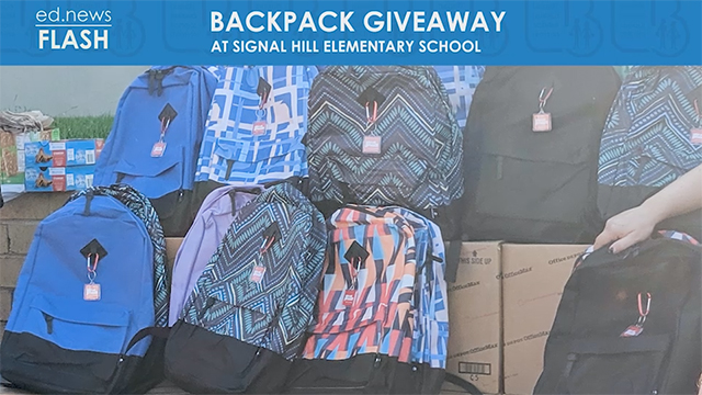 ed.news Flash - Backpack Giveaway - Video