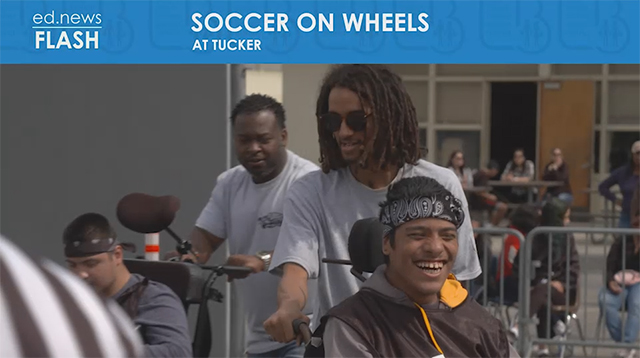 Soccer on Wheels student participant