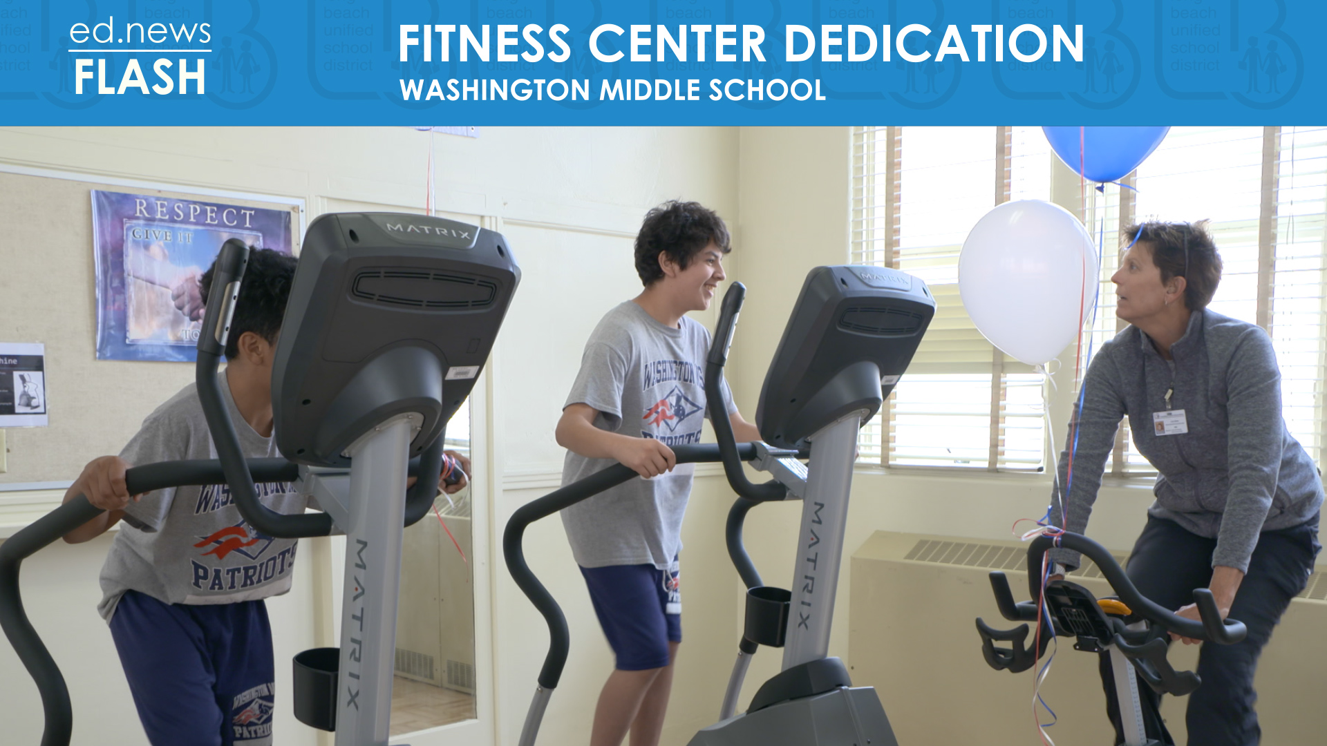ed.news Flash - Washington Fitness Center Dedication - Video