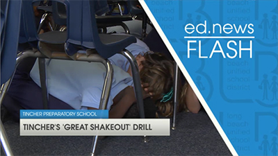 ed.news Flash - Great Shakeout Drill  - Video
