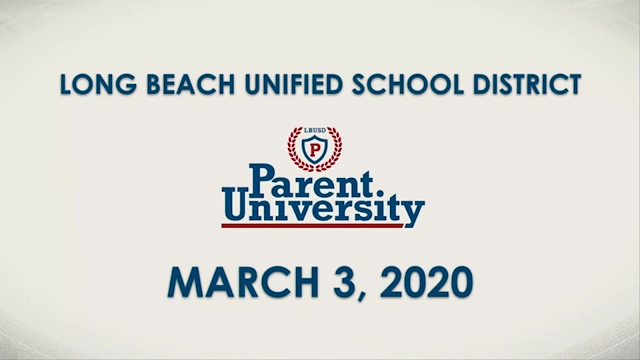 Parent University - March 3, 2020 - Video