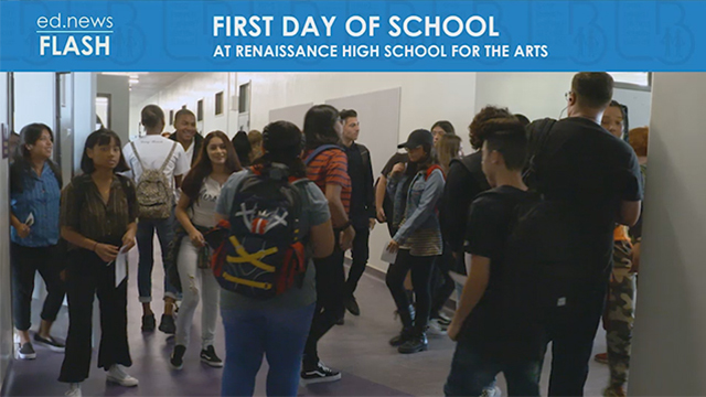 ed.news Flash - Renaissance High School First Day - Video