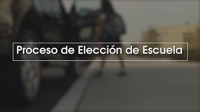 Middle School Choice Process 2019 [Spanish] - Video