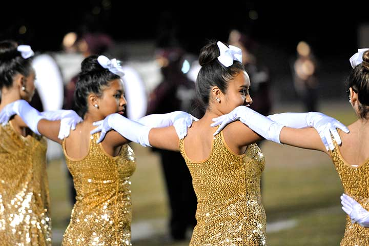 Dance team members for Cabrillo high school perform