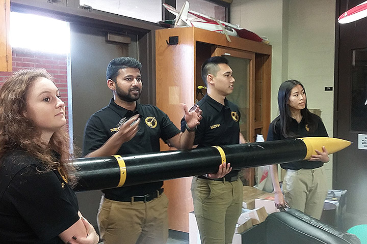 Students learn about military weapons