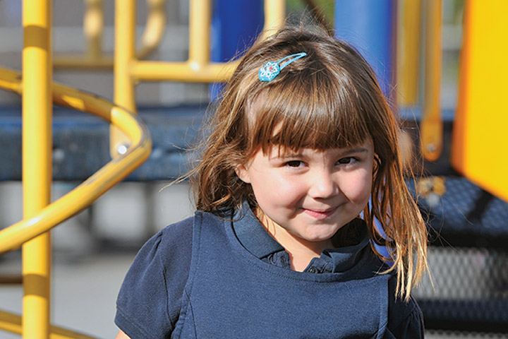 Tincher student plays on playground