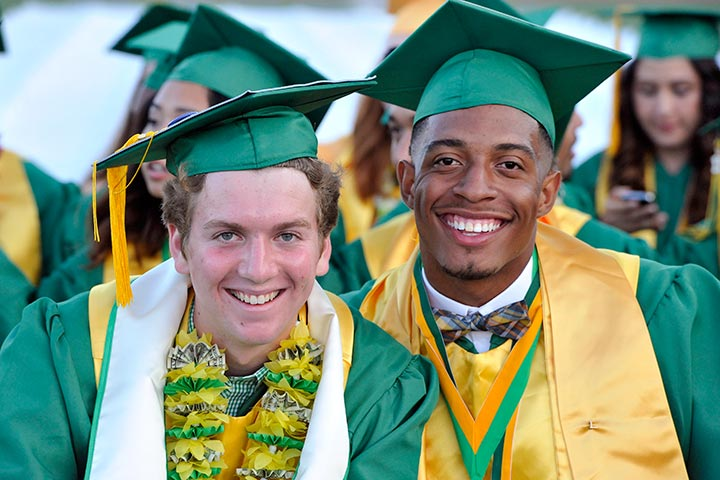 Two Poly students celebrate graduation