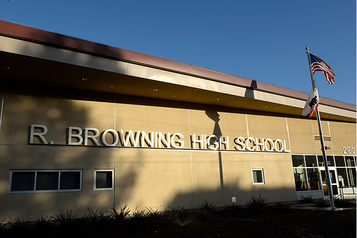 Outside shot of Browning High School