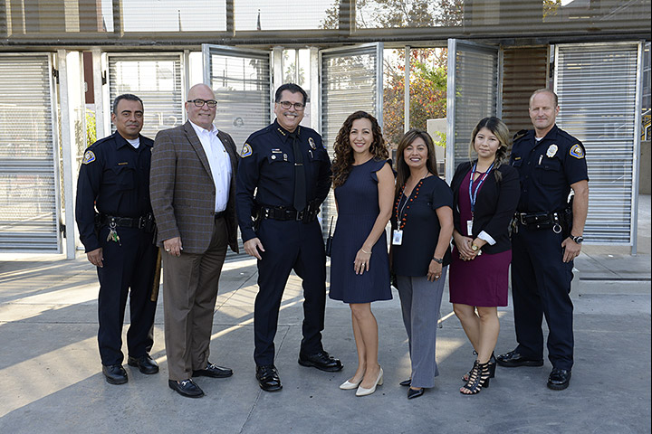 Chief Luna with other Long Beach Police staff