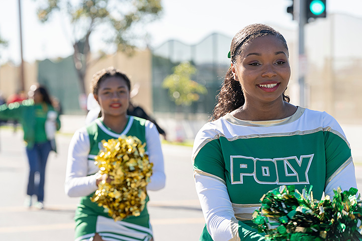 Poly student marches in MLK parade